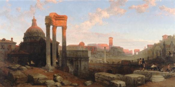 Remains_of_the_Roman_Forum_David_Roberts
